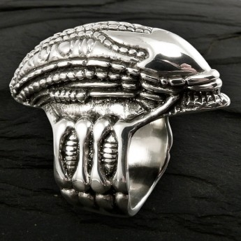 Silver Ring - Alien Skull – picture 2