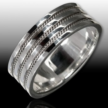 Silver Ring with Celtic Knots