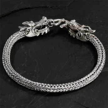 Bracelet from Silver - Dragons – picture 4