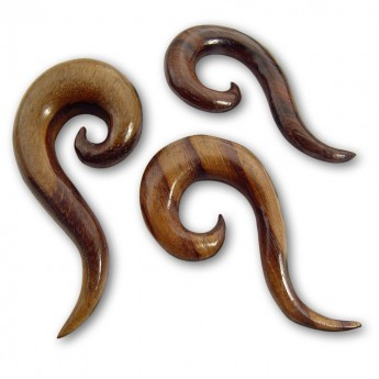 Wood Ear Spiral Expander - Curved Spiral – picture 2