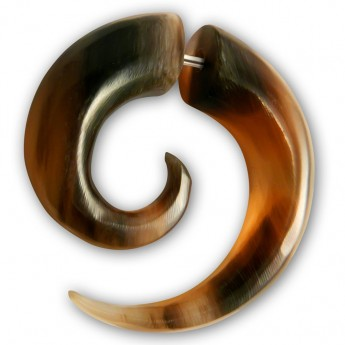 Plain Fake Spiral Expander from Horn, Bone or Wood – picture 4