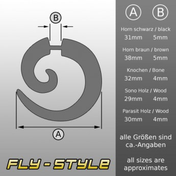 Plain Fake Spiral Expander from Horn, Bone or Wood – picture 2