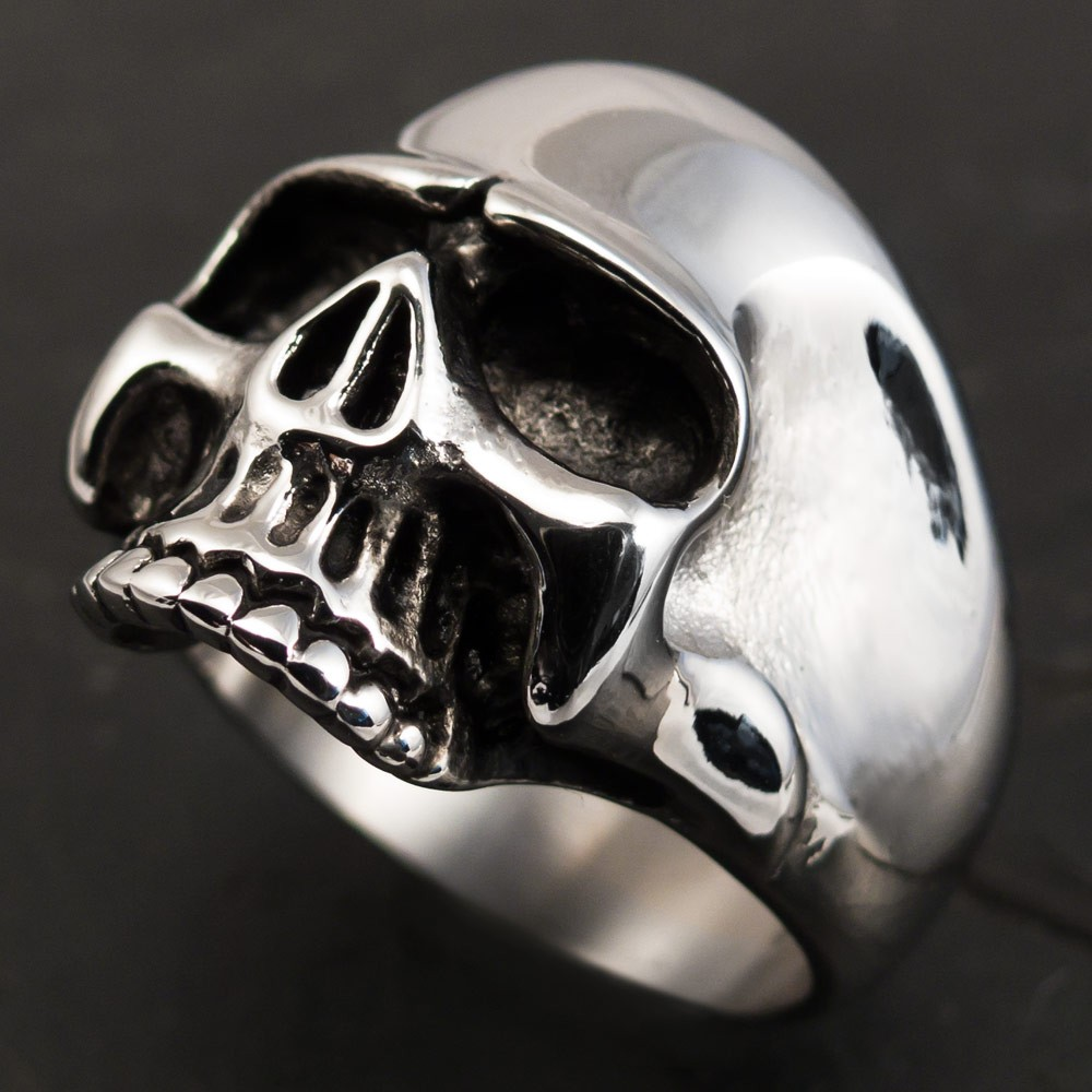Classic Skull Ring Stainless Steel Keith Richards Men