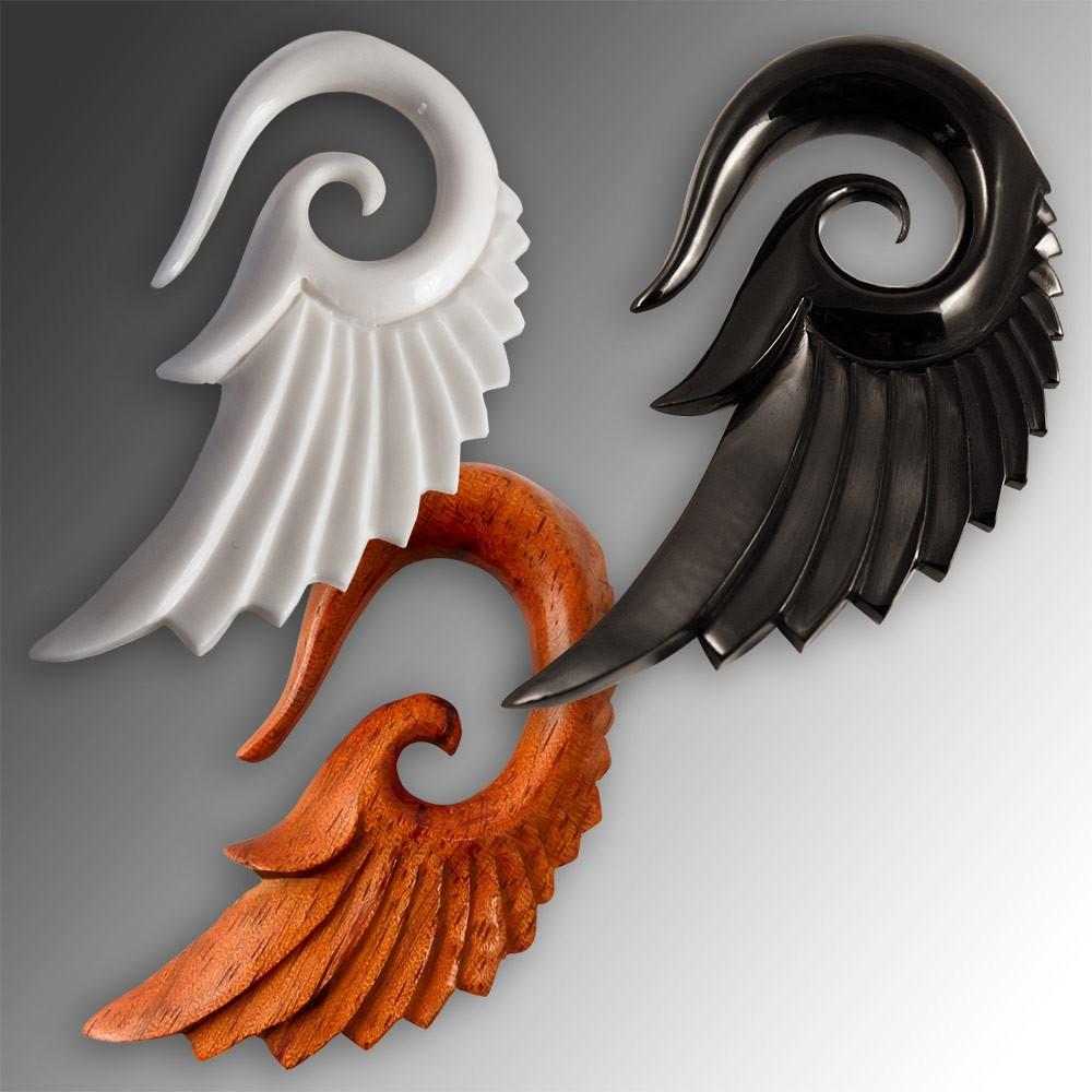 Dehnungsspirale - Seraphin - Engelsflügel - Holz, Horn, Knochen